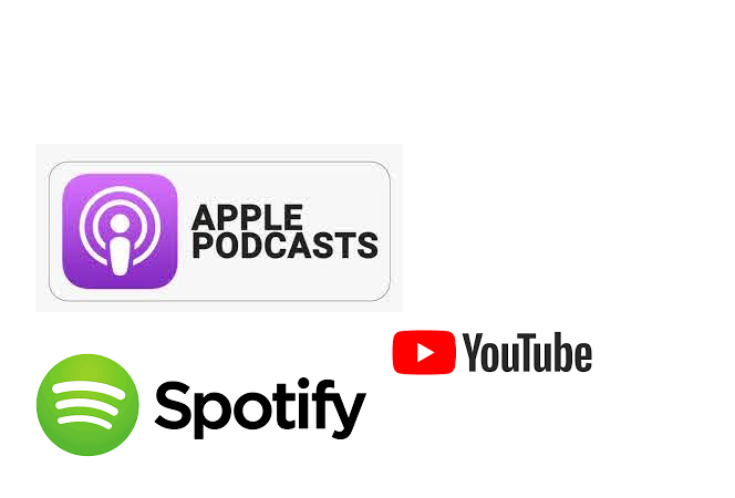 Fonda video un audio materiāli YouTube un Spotify, Aple Podcast